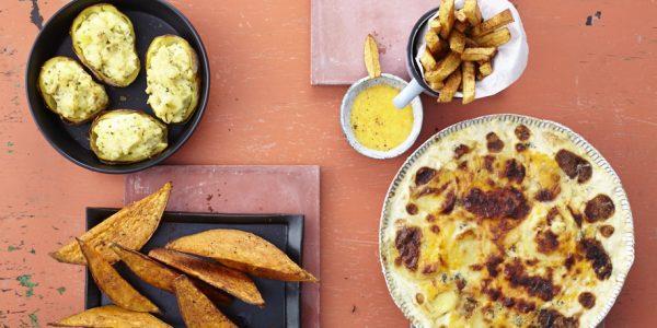 Storybild  suesskartoffelwedges-oder-pommes-frittes-mit-cheddarsauce 02